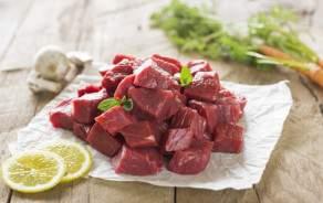 Freshly cut beef