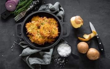 Organic potato fritters