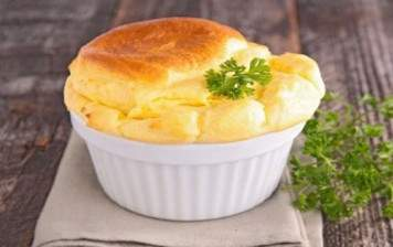 Swiss Gruyère cheese soufflé