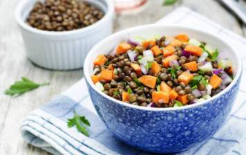 Salad of lentils and carrots
