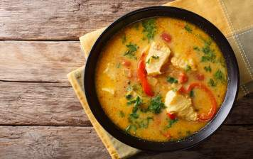 Coconut curry cod filet