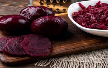 Organic cooked beetroot
