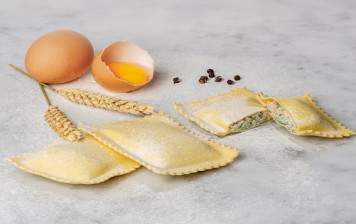 Home made fresh agnolotti -...