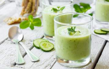 Cold GRTA cucumber soup