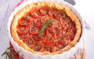 Tart with tomatoes from Geneva