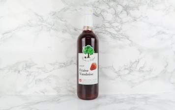 Strawberry syrup from Vaud