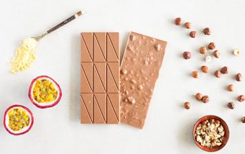 Iride Milk Chocolate - Hazelnut and Passion fruit