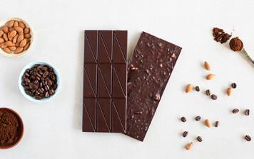 Chocolat Noir Ventu - Café et amande d'abricot