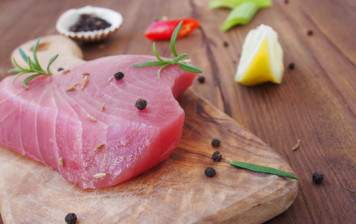 Coeur de thon sauvage poêlé Préparé à la minute