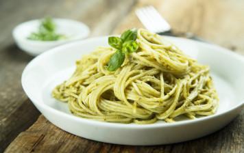 Spaghetti frais au pesto...