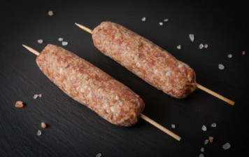 2 Ground beef skewers with...