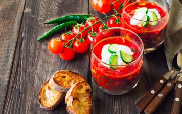 Fresh tomato, strawberry...