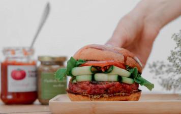 Burger gourmet végétal